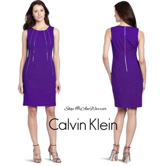 Calvin Klein Dresses & Skirts - Calvin Klein gold zip sheath dress